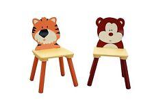 Set of 2 Kids Chairs Animal Safari Themed Jungle Animals Playroom Bedroom Chair