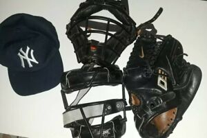 Nike Diamond Elite  BASEBALL Glove 12.75 + 2 CATCHER HELMET MASK HAT MLB LOT