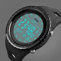 SKMEI Watch Sport Digital Quartz Wrist Men Analog Rubber Waterproof Military