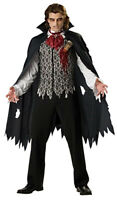Vampire Count Dracula Gothic Horror Halloween Adult Men Costume XL