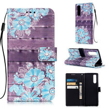 For Sony Xperia XZ1 XZ3 XA2 Ultra XA3 3D Painted Leather Case Wallet Card Cover