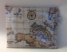 iPad bag,Tablet cover,iPad case,iPad Sleeve, World Maps Oilcloth