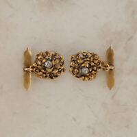 Vintage Ornate Diamond Cufflinks 18ct Gold