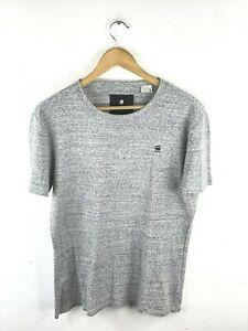 G Star Raw Men's T Shirt Size L Grey Short Sleeve Crew Neck Casual