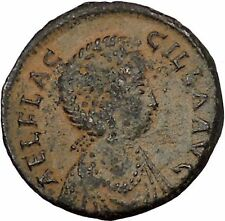 AELIA FLACILLA Theodosius I Wife 379AD CHI-RHO SHIELD Victory Roman Coin i54133