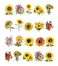 Sunflowers Nail art decals (Water Decals) Floral Nail Art Decals