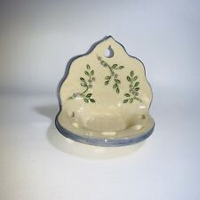 Vintage Hand Made Pottery Ceramic 5 Hole Toothbrush Cup Wall Holder Stoneware