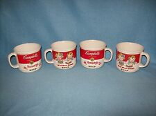 "1989 CAMPBELL's SOUP CERAMIC BOWL/MUGS ""HOMESTYLE & M'm! M'm! GOOD!"" SET OF 4"