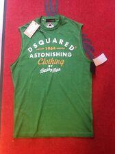 DSQUARED D2 Tank Top T-Shirt grün Shirt Longsleeve Top Sweater Gr.S NP199€ NEU
