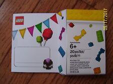 NEW SEALED LEGO BIRTHDAY CARD BOY OR GIRL MINIFIGURE 20 PIECES MODEL # 5004931