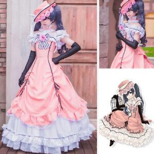 fantasycart Kuroshitsuji Black Butler Ciel Phantomhive Cosplay Costume Set Pink XL