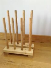 Welly Boot Rack/wellington Stand,Wooden Rack/stand - holds upto 4 pairs