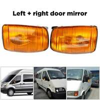 Amber Door Wing Mirror Indicator Lens Left and Right Side For Ford Transit Mk8
