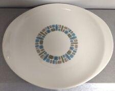 "Vintage ATOMIC MCM TEMPORAMA Dura-Gloss LARGE 13 3/4"" PLATTER Canonsburg Pottery"