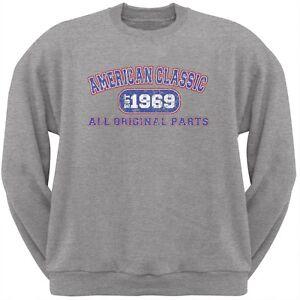 Classic American 1969 Funny Light Heather Grey Adult Sweatshirt
