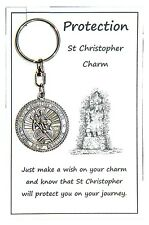W136 - Wish Charm Keyring - Protection - St Christopher Charm Handmade