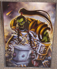 WOW Thrall Orc Warchief Glossy Print 11 x 17 Hard Plastic Sleeve