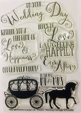 WEDDING clear ink stamp set card craft stamping printing My Sentiments Exactly!