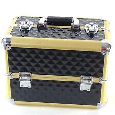 Beauty Case Make Up BS36 XXL Nero Oro Gold Valigia Cofanetto Porta Gioie Smalti