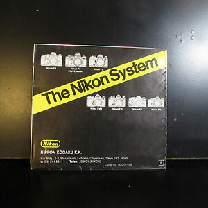 Used The Nikon System  accessory system Guide for FM2 FM cameras O401345