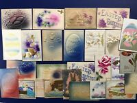 26 Easter Embossed & Air Brushed Antique Postcards. For Collectors. Nice w Value
