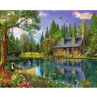 5D Full Drill Diamond Painting Embroidery Cabin Like Cross-Stitch Kit Leisure