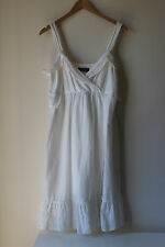 Jacqui E white summer dress for women size 12