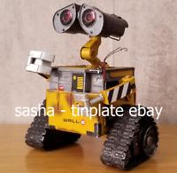 TINPLATE MODEL WALL-E e robot money coin loft bank tin handmade metal replica