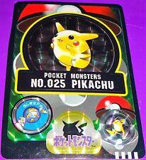 Pokemon 1997 Pikachu Bandai Sealdass Card