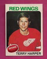 1975-76 OPC # 255 RED WINGS  TERRY HARPER  EX-MT CARD (INV#1706)