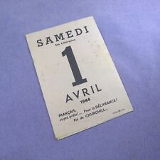 Tract propagande 1944 débarquement  WW2 anti anglaise