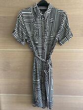 Dorothy Perkins geométrica Imprimir Camisa Vestido Talla 12