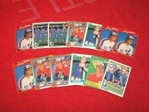 LARRY WALKER EXPOS ROCKIES CARDINALS HOF RC ROOKIE LOT OF 13 CARDS (18-89)