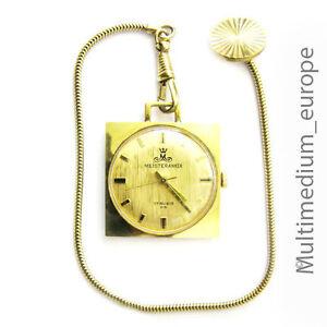 MEISTERANKER Taschenuhr 70er Jahre Goldauflage