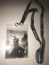 Assassins creed 3 Rare games con lanyard, new