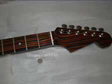 New zebra wood 21 Fret Guitar Neck and tuners Polishing For ST Parts