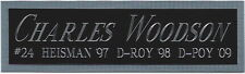 CHARLES WOODSON RAIDERS NAMEPLATE for AUTOGRAPHED SIGNED FOOTBALL-HELMET-JERSEY