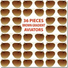 Wholesale Aviator Sunglasses Brown Gradient 36 Piece Set Bulk Lot All New Deal