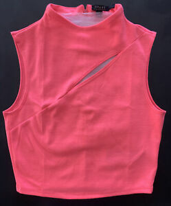 GUESS midi bright pink crop top fitted Size S - NEW (WOT)