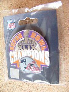 2015 SB Super Bowl 49 XLIX Champions NE New England Patriots lapel pin champs a2