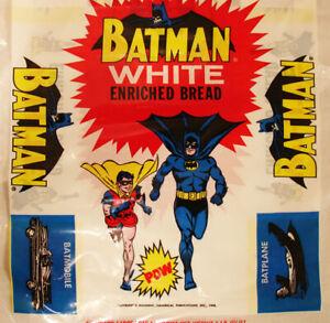 BATMAN & ROBIN 1966 GOLDEN STATE WHITE BREAD BAG MINT UNUSED BATMOBILE RIDDLER