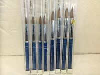 Galaxy 100% real Kolinsky Acrylic Nail Brush Round size 8 10 12 14 16 18 20 22