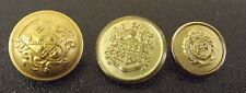 Vintage Military Gold Tone Uniform Buttons Army Navy Marines