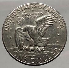 1977  President Eisenhower Apollo 11 Moon Landing Dollar USA Coin Denver  i46222