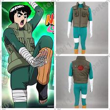 Naruto Anime Cosplay Costumens Rock Lee Cosplay Costume 2nd Halloween