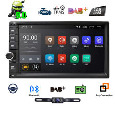 """Double Din 7"""" Head Unit Android 9.0 Quad Core Car Stereo 1024x600 GPS Navi Touch"""