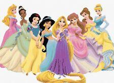 Princesas de Disney de 7 puntada cruzada contada Kit de personajes de la película