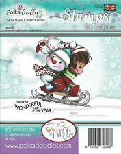 Winnie Most Wonderful Time - PD7964 Polkadoodles Christmas Clear Cling Stamp