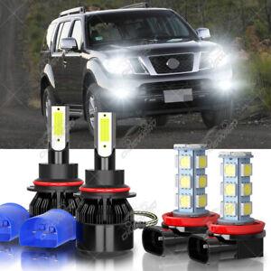Para For Nissan Pathfinder 2005-2012 9007 Kit de faros LED + luz antiniebla H11