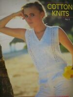 """Thorobred Knitting Pattern Book - COTTON KNITS - Sizes 32 to 40"""" Bust - VGC"""